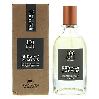100Bon Oud Wood & Amyris Concentre Eau de Parfum Spray 50ml Refillable