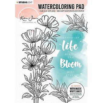 Karin Joan Blooming Collection Akvarell Pad A5-NR. 01
