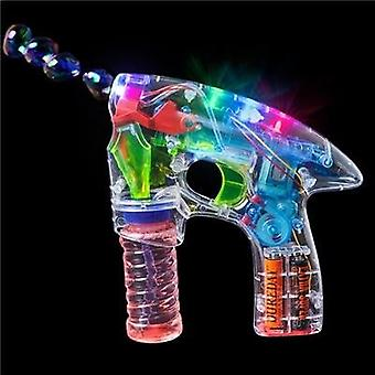 Transparent Led Light Bubble Gun Kids Birthday Bubble Gun For Children Toy Game Bubble Solution Inclus !