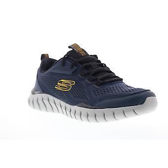 Skechers Overhaul 2.0  Mens Blue Mesh Athletic Cross Training Shoes
