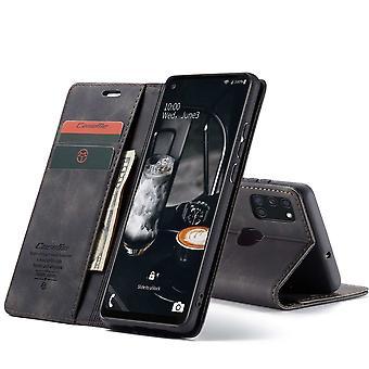 Samsung A21S Case Black - Retro Wallet Slim