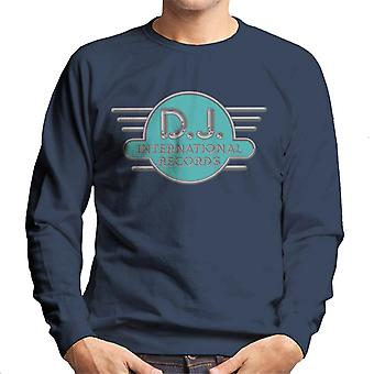 DJ International Records Cyan Logo Men's Sweatshirt