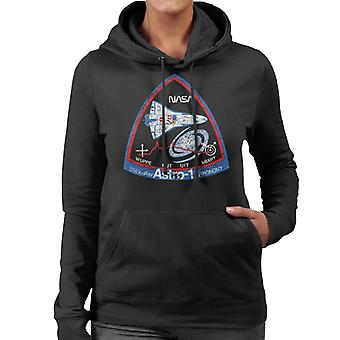 NASA ASTRO 1 Observatory STS 35 Mission Badge Distressed Women's Hooded Sweatshirt
