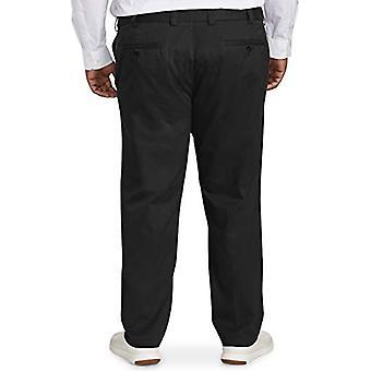 Essentials Men's Big & Tall Athletic-fit Ryppyjä kestävä Litteä-Front Chino Pant sopii DXL, Musta 44W x 32L