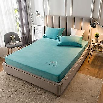 Winter Warm, Velvet Fitted Protective Cover  / Bed Sheet For Mattress