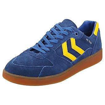 hummel Hb Team Mens Casual Trainers in Blue Yellow