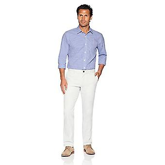 Essentials Men's Slim-Fit Wrinkle-Resistant Flat-Front Chino Pant, Sil...