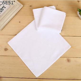 Women Men 100% Cotton Diy White Handkerchief