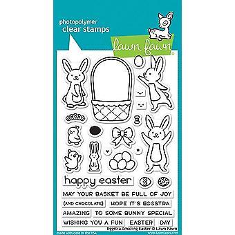 Nurmikko Fawn Eggstra Amazing Pääsiäinen Selkeä Postimerkit
