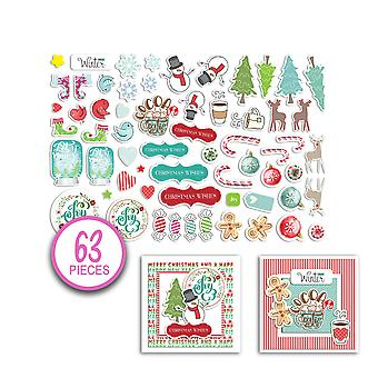 Polkadoodles Jumbles Christmas Cheer Ephemera Pack