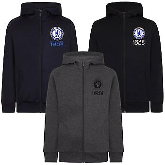 Chelsea FC Officiel Football Gift Boys Fleece Zip Hoody