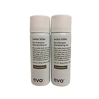 evo Water Killer Dry Shampoo Brunette DUO 1.1 OZ Elk
