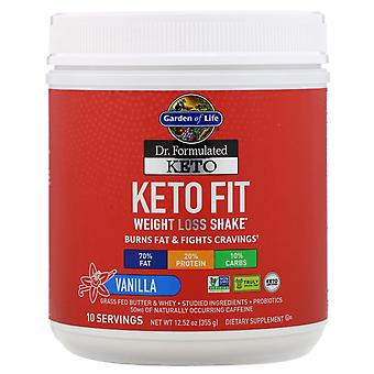 Garden of Life, Dr. Formulated Keto Fit Weight Loss Shake, Vanilla, 12.52 oz (35
