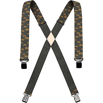 Arcade Jessup Trouser Braces in Heather Green / Metal Brown