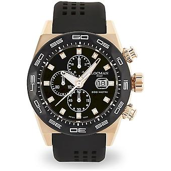 Locman Men's Watch Chronograph Quartz Stealth 300 Metres 0217V5-RKBK5NS2K