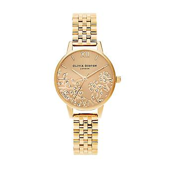 Olivia Burton Watches Ob16mv105 Bejewelled Lace Gold Bracelet Watch