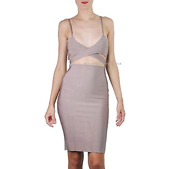 Atchara женщины-апос;s Celeb Бинт V-Neck Strappy Waist Cut Out Midi платье