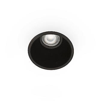 Faro Fresh - Black Round Downlight GU10