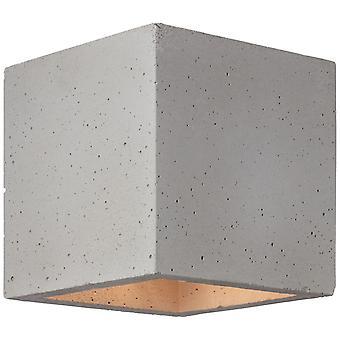 BRILLIANT Lampe Gratis væglampe grå beton | 1x QT14, G9, 28W, egnet til pennestiklygter (ikke inkluderet) | Skala