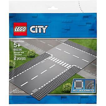 LEGO 60236 прямой и T-пересечение