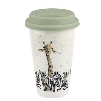 Wrendale Designs Travel Mug, Giraffe and Zebra