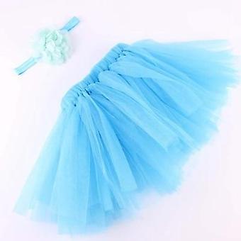 Baby Tulle Tutu Skirt, Flower Headband Set