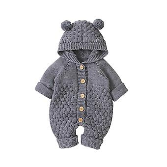 Newborn Infant Baby / Winter Warm Coat Knit, Outwear Hooded Jumpsuit
