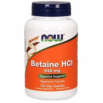 Nyt Foods Betaine HCl, 648 mg, 120 Veg Caps