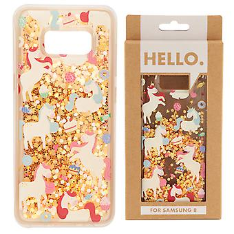 Samsung 8 Phone Case - Unicorn Sweet Dreams Design