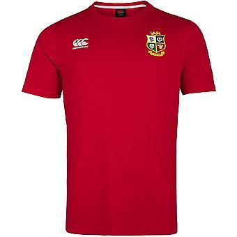 Canterbury British & Irish Lions 2021 Mens Rugby Union T-Shirt Tee Red