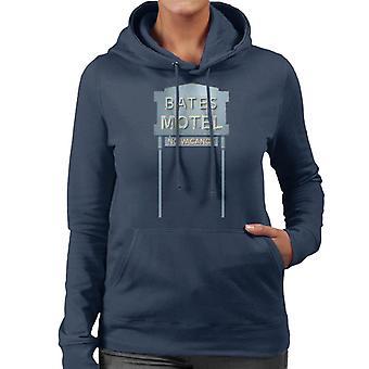 Psycho Bates Motel No Vacancy Women's Hooded Sweatshirt