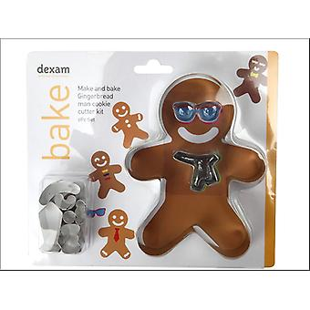Dexam Make + Sütni Ginger Bread Man Kit 9 Piece 17848966