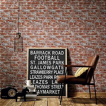 2 pcs. rolls of wallpaper brown and red 0.53×10 m brick