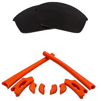 الاستقطاب استبدال العدسات عدة ل Oakley Flak سترة سوداء الأحمر المضادة للخدش المضادة للوهج UV400 من قبل SeekOptics