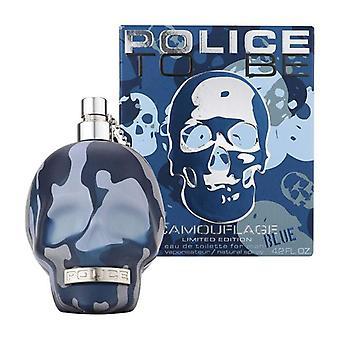 Polizei zu sein Camouflage Blue Eau de Toilette Spray 125ml