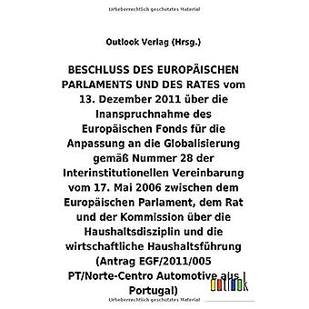 BESCHLUSS vom 13. Dezember 2011 Aber die Inanspruchnahme des Europ ischen Fonds fAr die Anpassung an die Globalisierung helmi A Nummer 28 der Interinstitutionellen Vereinbarung vom 17. Mai 2006 Aber die Haushaltsdisziplin und die wirtschaftliche Haushal