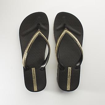 Ipanema Mesh Wedge Ladies Flip Flops Black