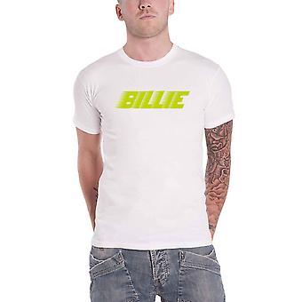 بيلي إيليش تي شيرت المتسابق الشعار الجديد الرسمية رجال الأبيض