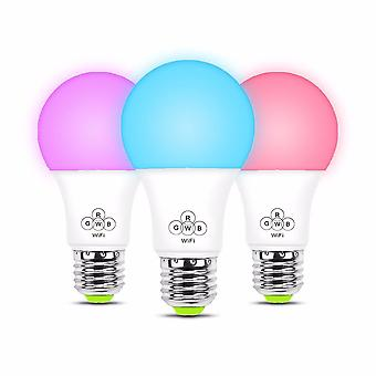 Smart Wifi Light Bulb Rgb, Remote And Voice Control Led Support