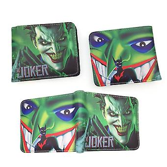 PU leather Coin Purse Cartoon anime wallet --The Joker # 603