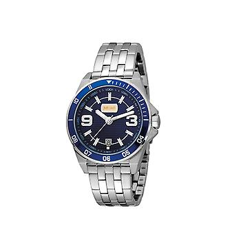 Just Cavalli JC1G014M0075 Mens Stainless steel watch with dark blue dial