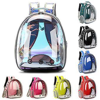Saco de gato respirável portátil saco de transporte de animais de estimação mochila de viagem ao ar livre para gato e cão transparente espaço pet mochila