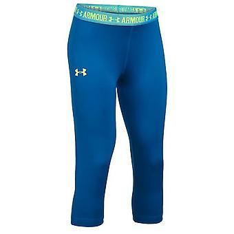 Under Armour Girls Heagear Leggings Casual Gym Running Tight Blue 1271021 438
