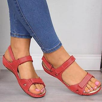Summer Casual, Stitching Open-toe, Slides Sandals, Slippers