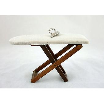 Dolls House  Ironing Board & Iron Miniature Kitchen Laundry Accessory 1:12 Scale