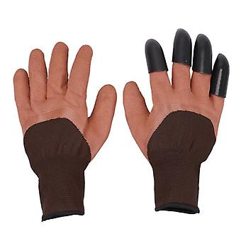 Garden Gloves With Claws For Dig, Plant Rubber, Rose Planting Pruning, Digging