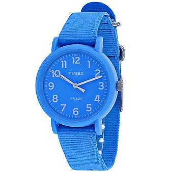Orologio da quadrante blu Timex Women's Weekender - TW2R40600