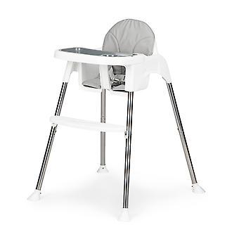 Cadeira de jantar cadeira alta - ajustável - 67x60x86 cm - branco