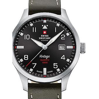 Reloj masculino militar suizo por Chrono SM34078.04, cuarzo, 43 mm, 10ATM