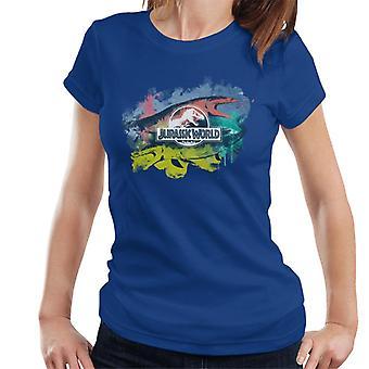 Jurassic Park Mosasaurus Pinsel Strich Montage Frauen's T-Shirt